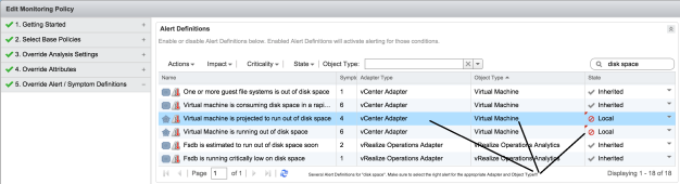 Suppressing Disk Space Alerts for VMs
